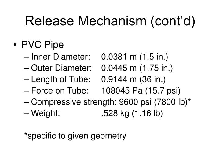 Release Mechanism (cont'd)