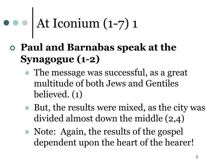 At Iconium (1-7) 1