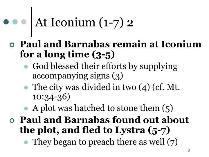 At Iconium (1-7) 2