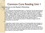 common core reading unit 1