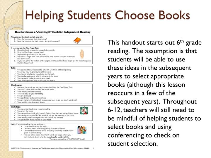 Helping Students Choose Books