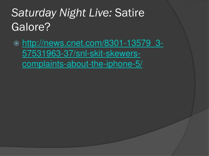 Saturday Night Live: