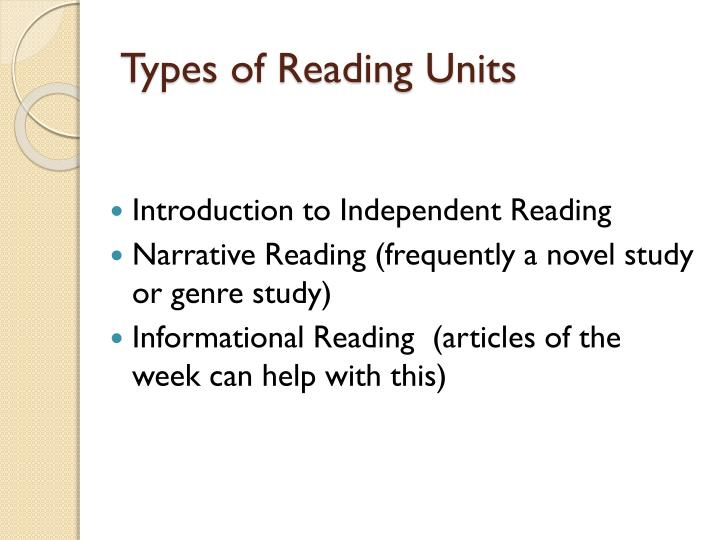 Types of Reading Units