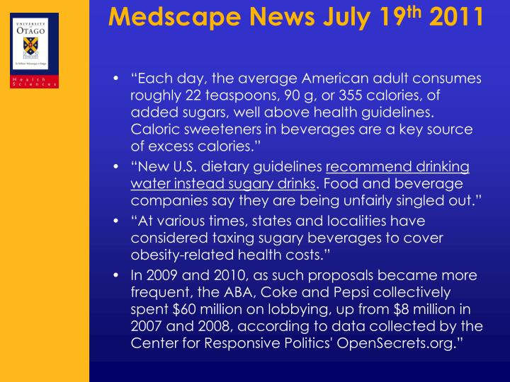 Medscape News July 19