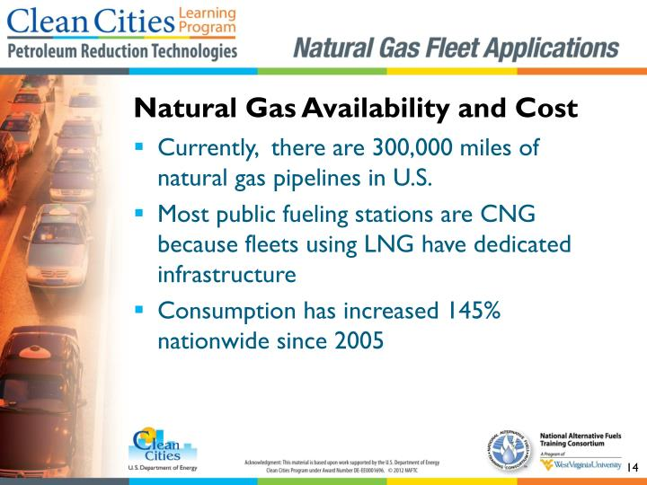 Natural Gas Availability and Cost