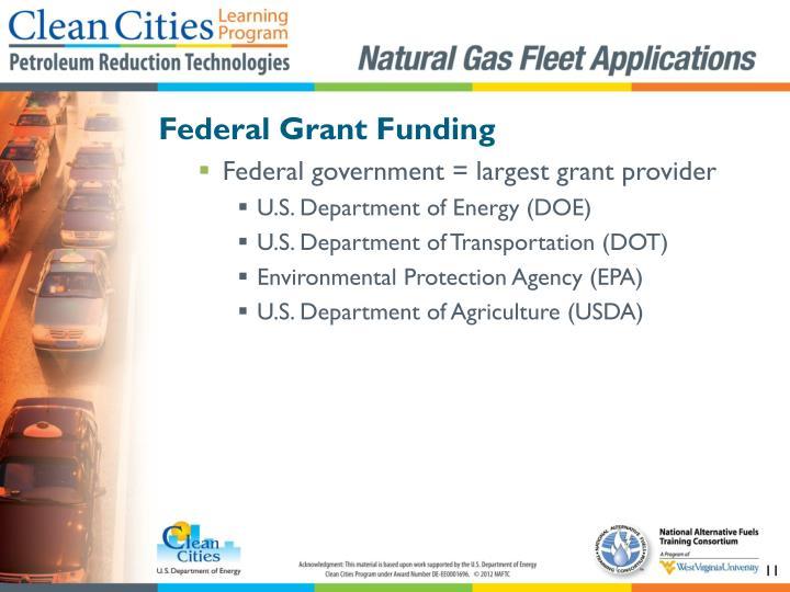 Federal Grant Funding