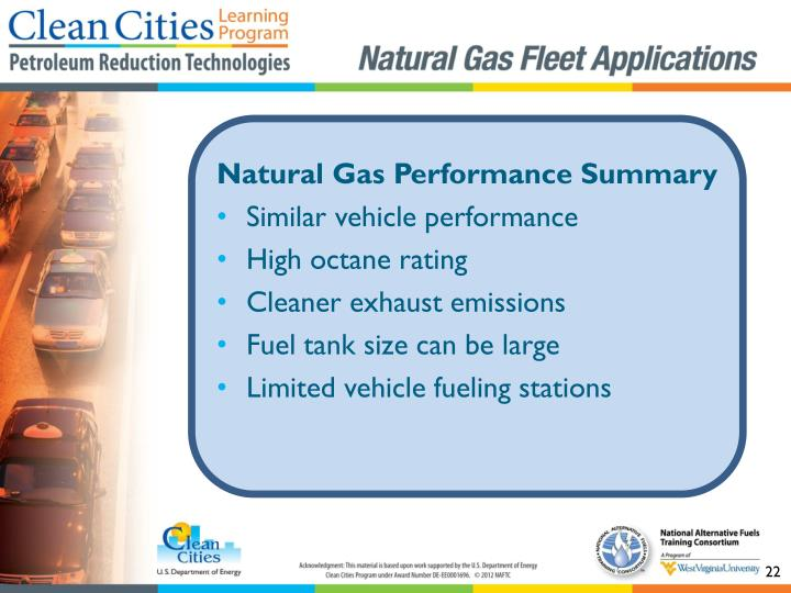 Natural Gas Performance Summary