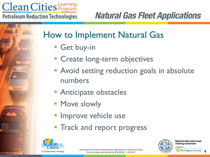 How to Implement Natural Gas