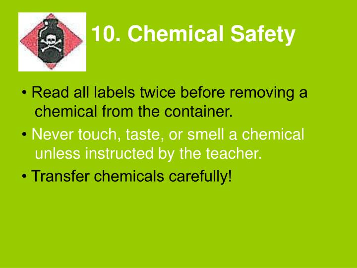 10. Chemical Safety