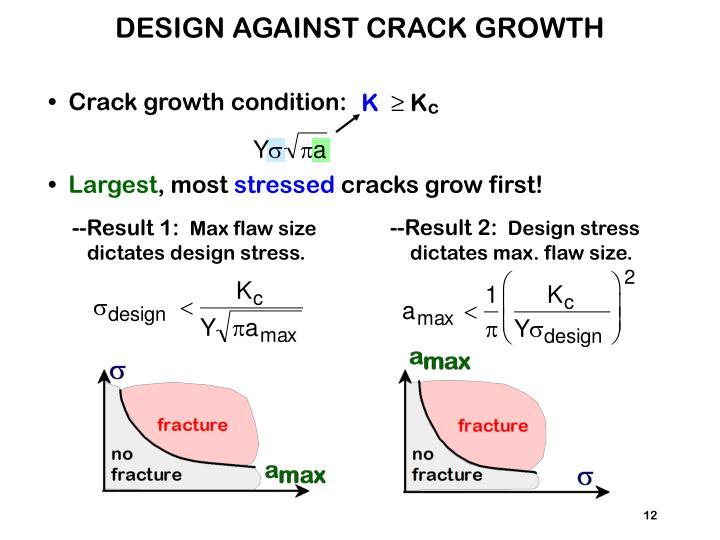 DESIGN AGAINST CRACK GROWTH