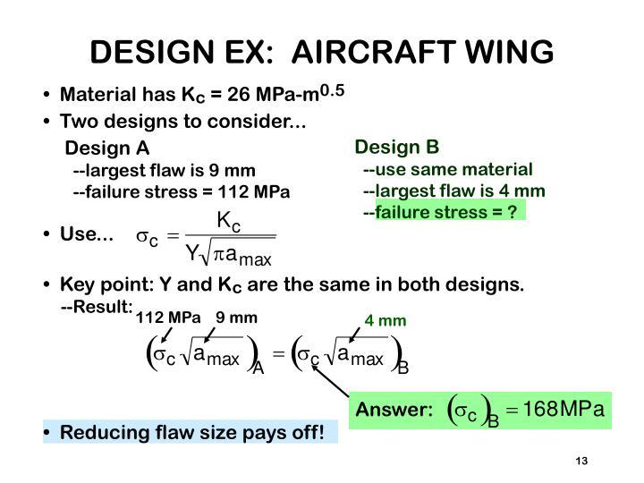 DESIGN EX:  AIRCRAFT WING
