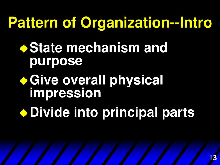 Pattern of Organization--Intro