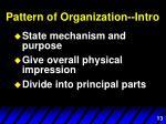 pattern of organization intro