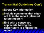 transmittal guidelines con t