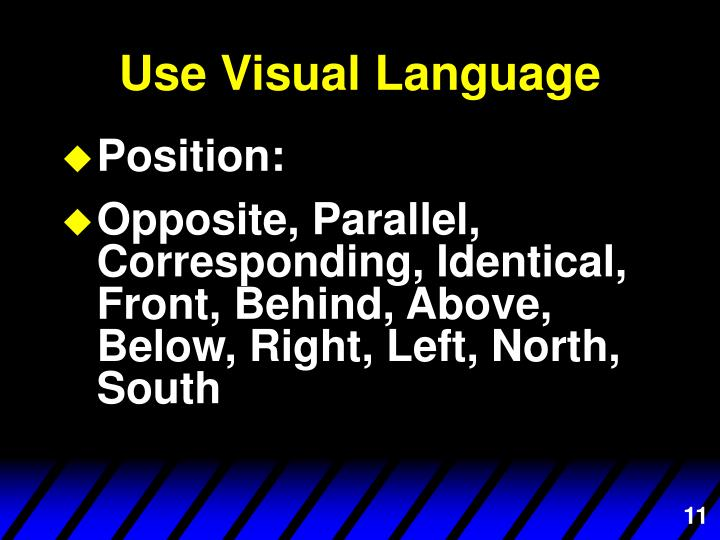 Use Visual Language