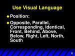 use visual language5