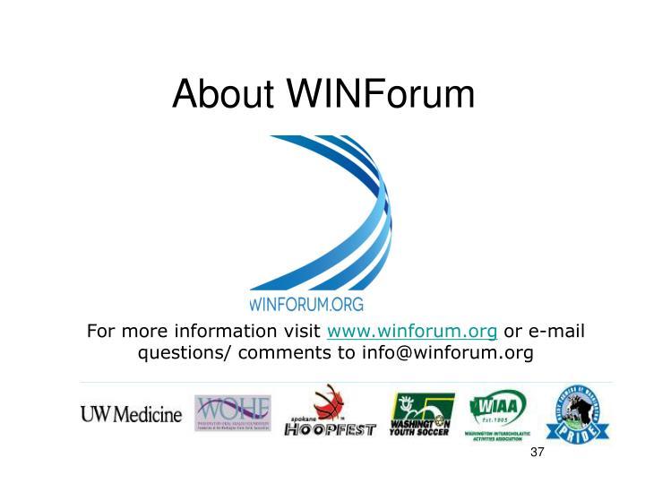 About WINForum