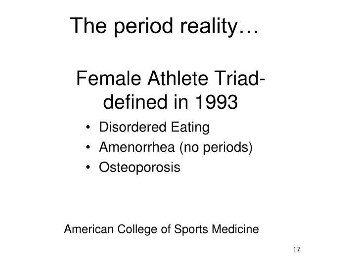 Female Athlete Triad-