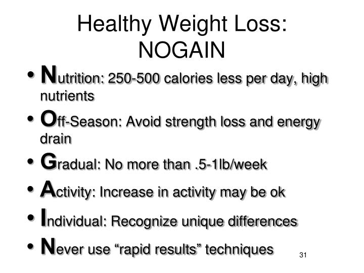 Healthy Weight Loss: NOGAIN