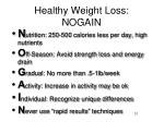 healthy weight loss nogain
