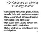no carbs are an athletes 1 energy source