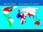 world map european empire