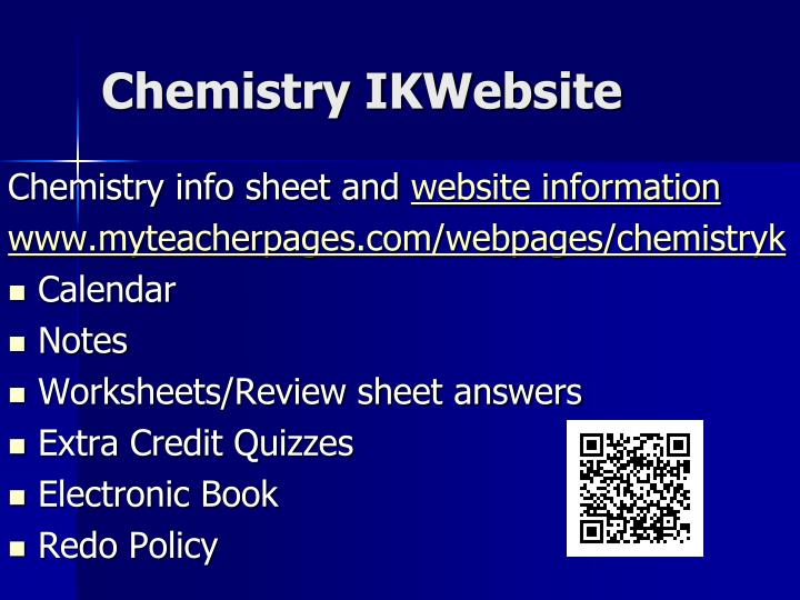 Chemistry IKWebsite
