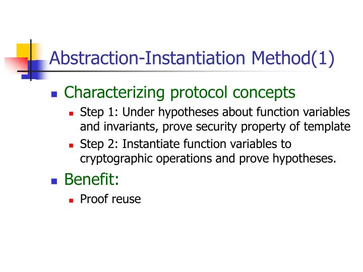 Abstraction-Instantiation Method(1)