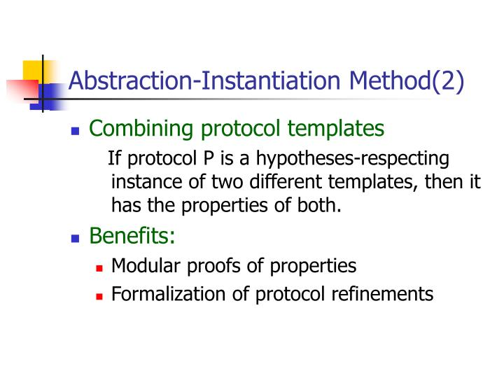 Abstraction-Instantiation Method(2)