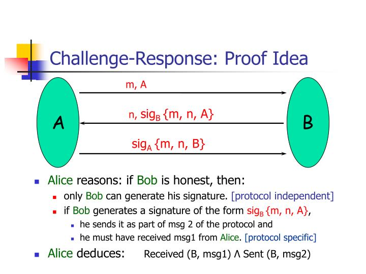 Challenge-Response: Proof Idea