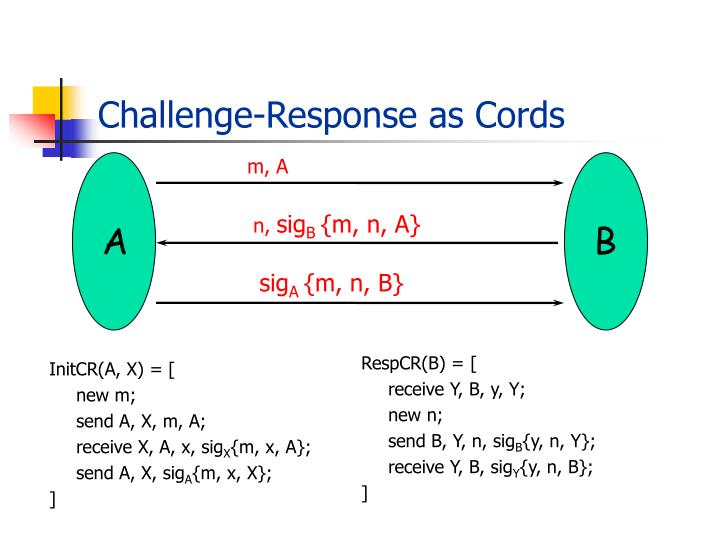 Challenge-Response as Cords