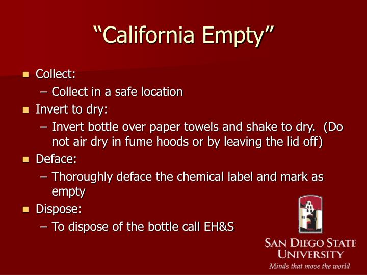 """California Empty"""