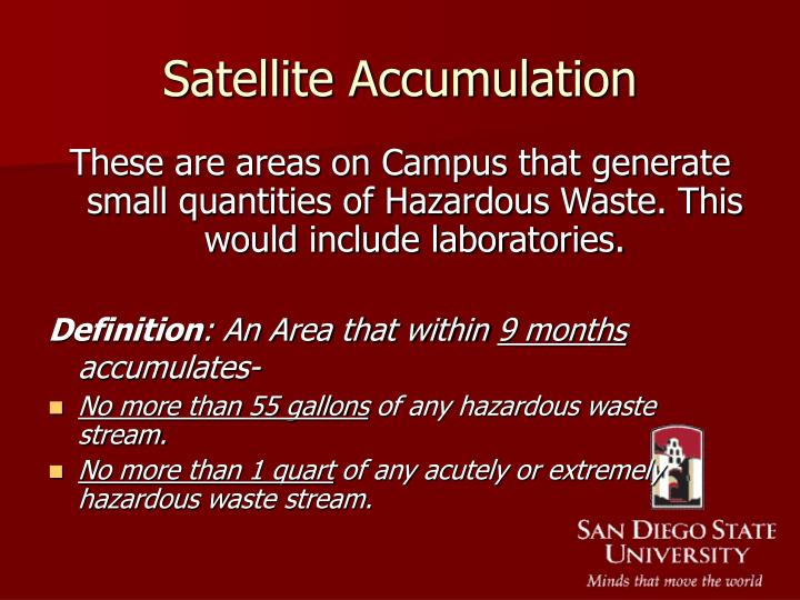 Satellite Accumulation