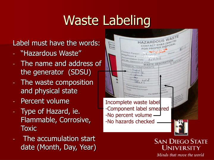 Waste Labeling
