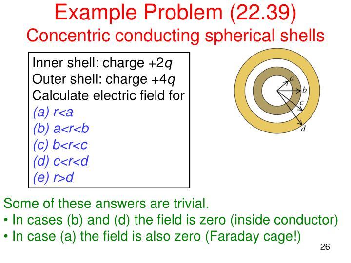 Example Problem (22.39)