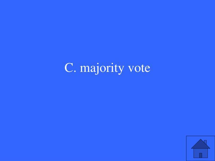C. majority vote