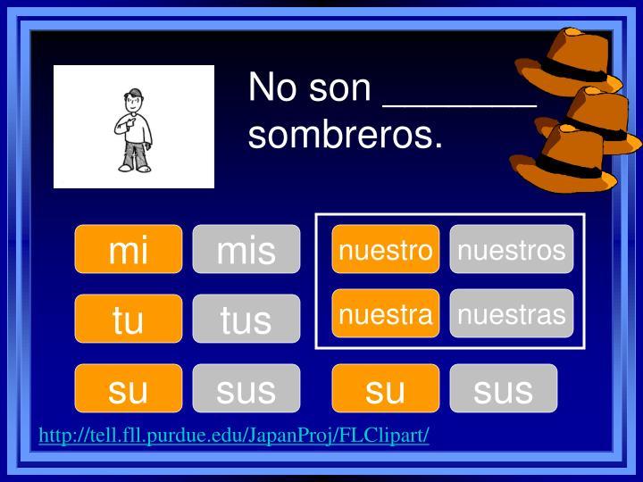 No son _______ sombreros.