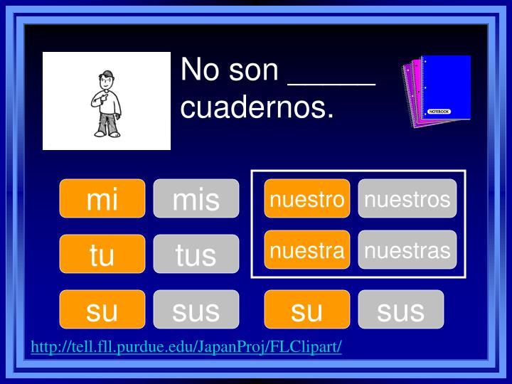 No son _____ cuadernos.