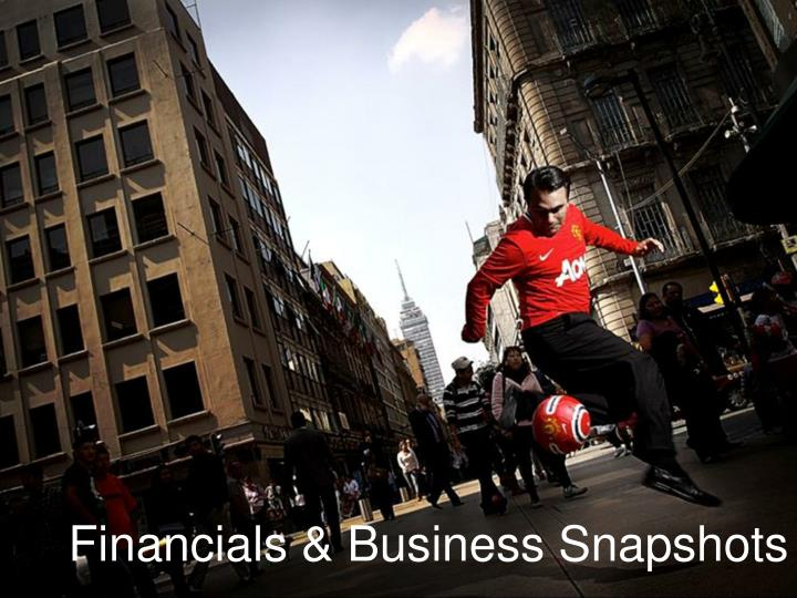Financials & Business Snapshots