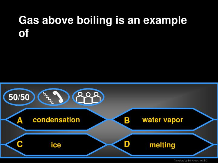 Gas above boiling is an example of