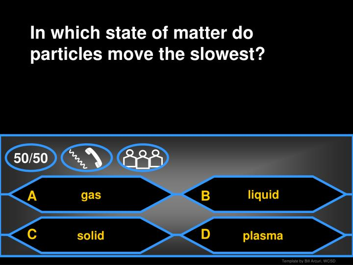 In which state of matter do particles move the slowest?