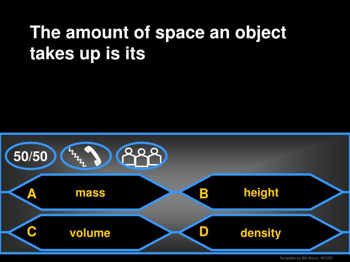 The amount of space an object takes up is its