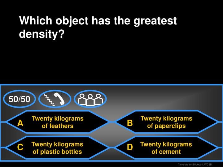 Which object has the greatest density?