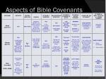 aspects of bible covenants