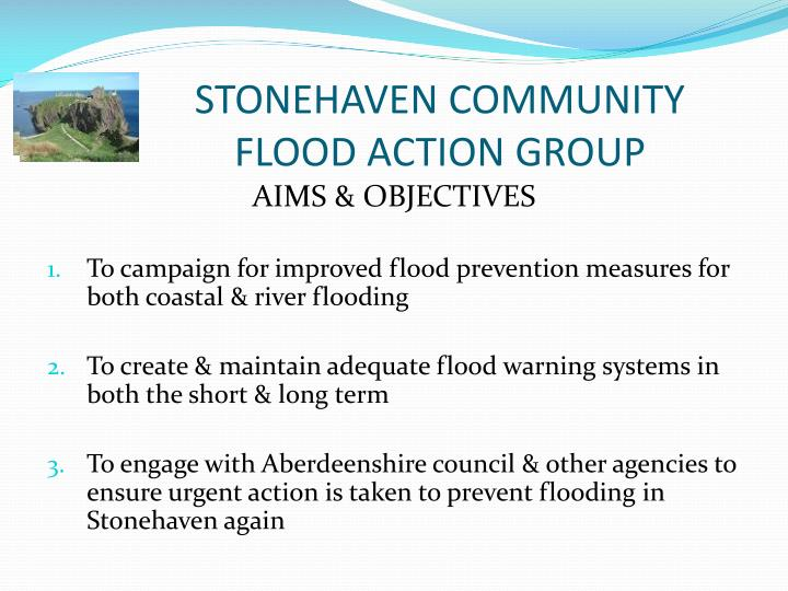 Stonehaven community flood action group2