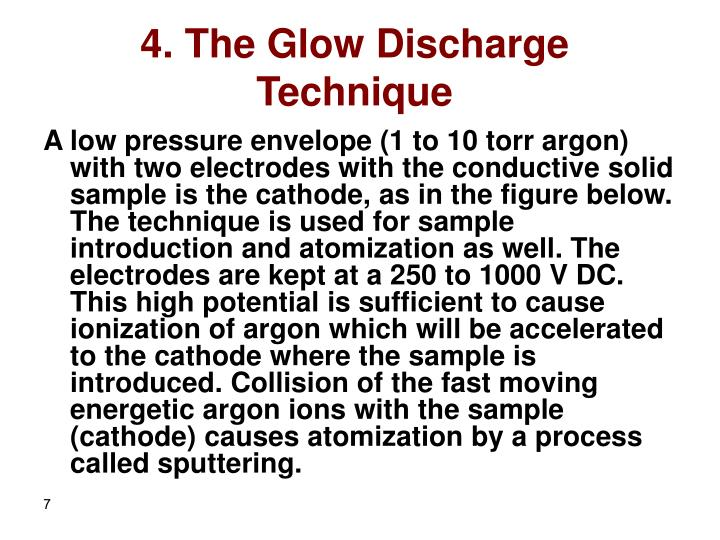 4. The Glow Discharge Technique