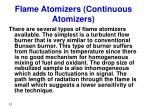 flame atomizers continuous atomizers