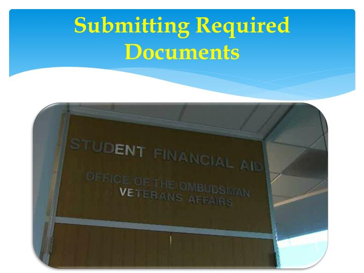 Submitting Required Documents