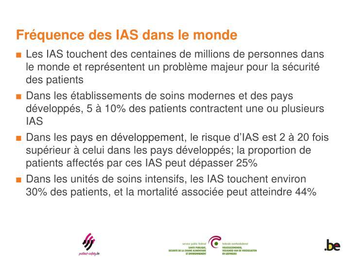 Fréquence des IAS dans le monde