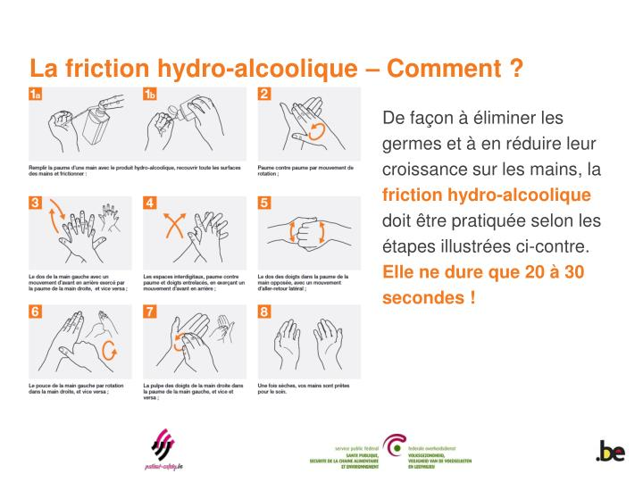 La friction hydro-alcoolique – Comment ?